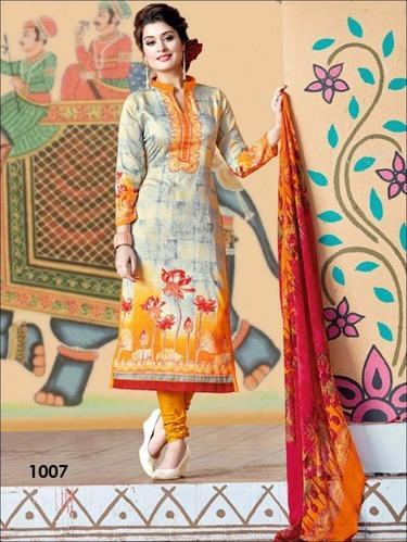 Cotton Casual And Formal Wear Punjabi Exclusive Designer Straight Suit