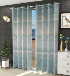 Polyester Leela Panel Readymade Curtains Dazzle Dreams for Home, Size: 7ft and 9ft