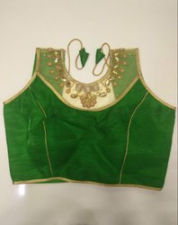 Kelly Green Handwork Blouse