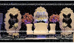 Oval Fiber Panel Wedding Stage