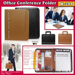 Custom Leatherette Conference Folders for Office, Paper Size: A5