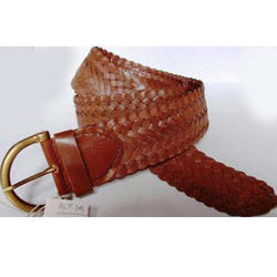 Brown Ladies Braided Belts