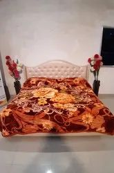 Double Bed Richwool Brown Blankets