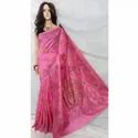 Fancy Pink Cotton Handloom Saree