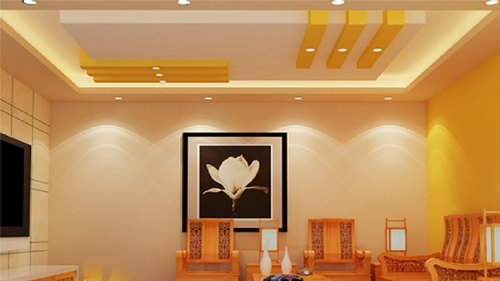 Plaster Of Paris Ceiling Multicolor False Ceiling