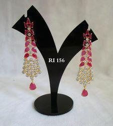 Radiant Impex Women AD Earrings Set