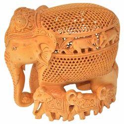 Wooden Undercut Baby Elephant