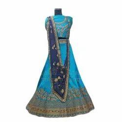 Silk Party Wear Designer Lehenga Choli, 2.5 M