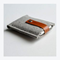 Grey,Brown Fabric Leather Cell Phone Cover