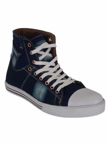 86c740842de7 Ryko Blue Mens High Ankle Casual Shoes