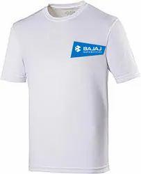 White Customised Round Neck Cotton T-shirt