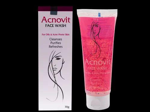 Anti Acne  ( Acnovit) Face Wash, Packaging Size: 70gm