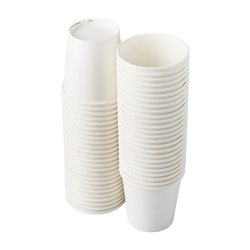 White Plain Paper Glass, Size: 210ml