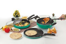 Nirlon Greenchef Granite Cookware Combo Gift Set, Green, 7 Piece