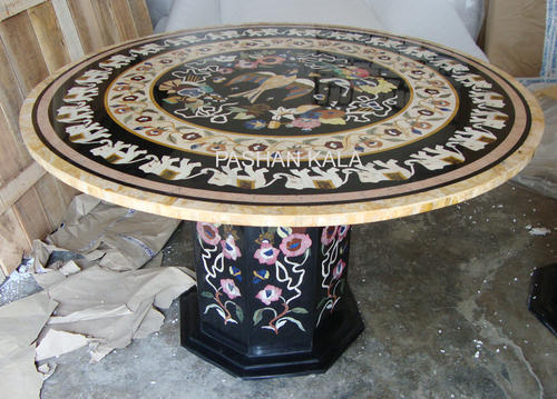 Finest Marble Inlay Dining Table - Marble Dining Table Top Wholesale  DT88