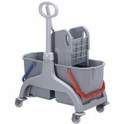 50 L Grey Line Mop Wringer Trolley