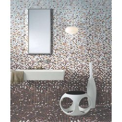 Crystal and Glass Gloss Bathroom Moasic Tiles, Thickness: 4-8 mm