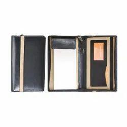 Leatherette Passport & Cheque Book Holder