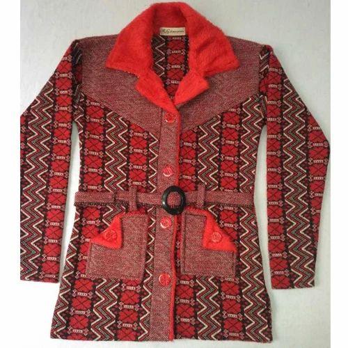 362248271a Ladies Belt Style Woolen Sweater