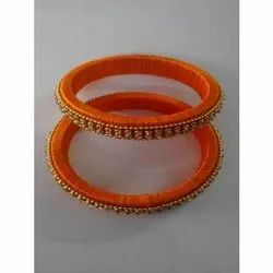 Latest Collection Silk Thread Bangle with Stone