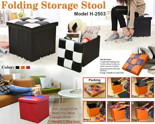 Excellent Folding Storage Stool H 2503 Living Room Plastic Cjindustries Chair Design For Home Cjindustriesco
