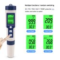 5 in 1 TDS/EC/PH/Salinity/Temperature Meter Multi-functional Water Quality Tester