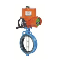 Electrical Actuator Operated Rubber Lined Wafer Type Butterfly Valve