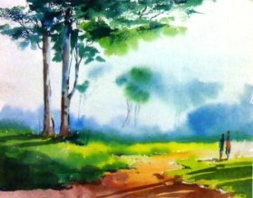 Best Colour For Home Painting >> Water Color Painting, Paani Ke Rang Wali Chitrakari, Water Colour Painting - WIFI Classes ...