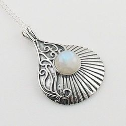 Designer Gemstone 925 Silver Pendant