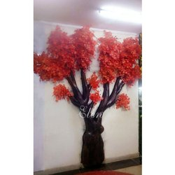 Artificial Plants Red Artificial Wall Tree Decor, Natural