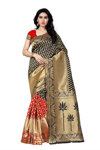 a2c8ba225ec Banarasi Silk Wedding Wear Poly Silk Saree