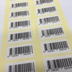 Thermal paper, Chromo paper Barcode Stickers, Packaging Type: Box