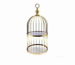 Metal Bird Cage Centrepiece