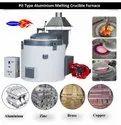 Pit Type Aluminium Melting Crucible Furnace