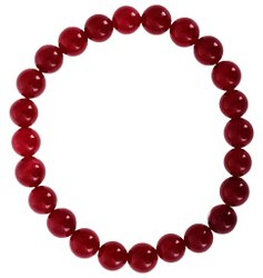 Kesar Zems Ruby Colour Natural Akik Agate Bracelet for Men and Women