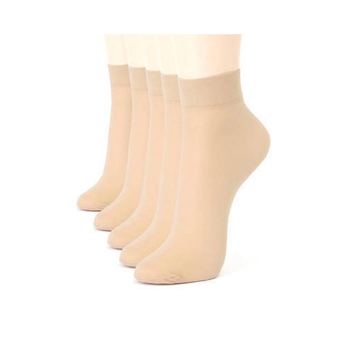 Cream Women Ladies Skin Colour Cotton Ankle Socks