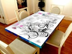 Designer Glass Top Glass Top Kaanch Ka Top क च क ट बल ट प ग ल स ट बल ट प Print Decors Id 20692926597