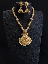 Golden Matte Finish Necklace