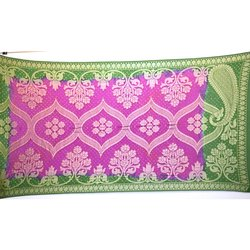 Green And Pink Color Banarasi Georgette Bandhani Dupatta