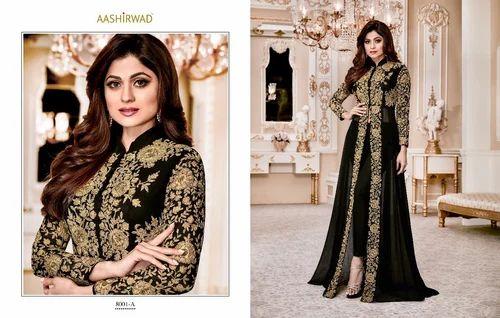 2f4baf0267 Ladies Georgette Semi-Stitched Salwar Kameez Suits, Rs 1510 /piece ...