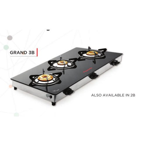Butterfly 3 Burner Glass Top LPG Stoves