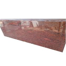 Tumkur Red Granite Slab, for Countertops, Thickness: 5-10 mm