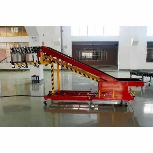 Mild Steel Truck Loading Conveyor for Industrial Use, Capacity: 1-50 kg