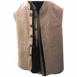 Cotton Blend Mens Fancy Nehru Jacket