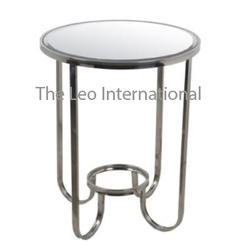 Luxury Class stainless steel and glass metal table