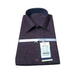 Pure Cotton S And L Mens Plain Shirt
