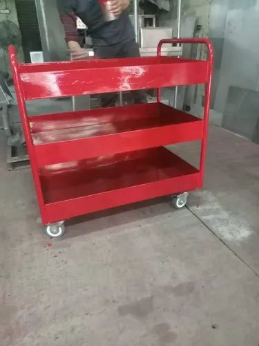 SS Red Metal Trolley