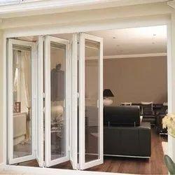 Clear Glass Lever Handle UPVC Slid & Fold Doors