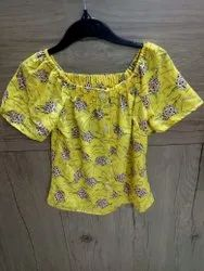 Girls Printed Round Neck Top