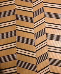 Washable Smart Biscuit Colour Wallpaper With Black And Brown Zig Zag Pattern